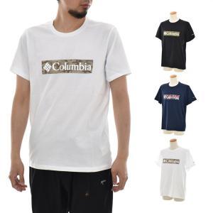 コロンビア Columbia Tシャツ ラギッドリッジグラフィックT メンズ 半袖Tシャツ オーガニックコットン M RAPID RIDGE GRAPHIC TEE ブラック 黒 定番|stay