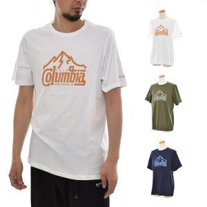 コロンビア Columbia Tシャツ パスレイクグラフィックT II メンズ 半袖Tシャツ オーガニックコットン ロゴ ブランド M L XL PATH LAKE GRAPHIC TEE II 白 定番|stay