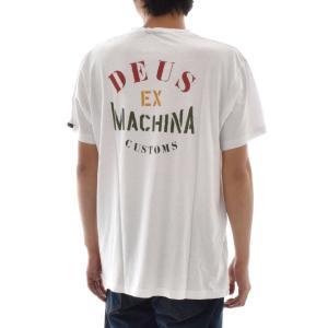デウス エクス マキナ Deus ex Machina Tシャツ ステンシル メンズ 半袖Tシャツ ロゴT デウスエクスマキナ ブランド 2018 新作 白 バイク STENCIL TEE DMP81067D|stay