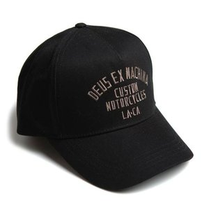 Deus ex machina デウス エクス マキナ キャップ 帽子 5パネルキャップ ローキャップ カーブバイザー メンズ レディース 黒 Buffalo Trucker Cap DMP207834|stay