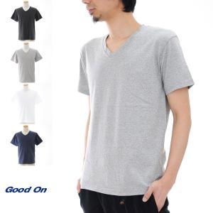 (グッドオン) Good On Tシャツ Vネック 半袖Tシャツ GOST1001C GOST1001P[M便 1/1]|stay