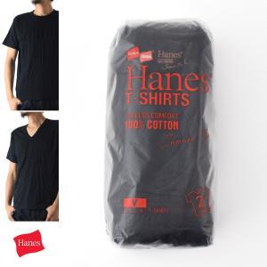 ヘインズ Hanes Tシャツ ジャパンフィット 2枚組み ブラックTシャツ H5110 H5115|stay