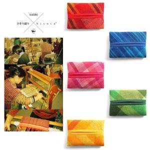 <メール便対応>Hiyuca(ヒユカ)×こころ・さをり さをり織り ポケットティッシュケース 小物 雑貨 メンズ レディース 復興デパートメント[M便 1/3]|stay