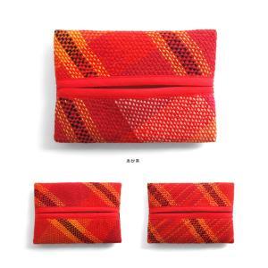 <メール便対応>Hiyuca(ヒユカ)×こころ・さをり さをり織り ポケットティッシュケース 小物 雑貨 メンズ レディース 復興デパートメント[M便 1/3]|stay|03