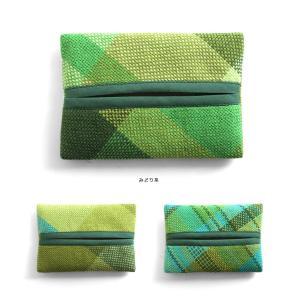 <メール便対応>Hiyuca(ヒユカ)×こころ・さをり さをり織り ポケットティッシュケース 小物 雑貨 メンズ レディース 復興デパートメント[M便 1/3]|stay|06