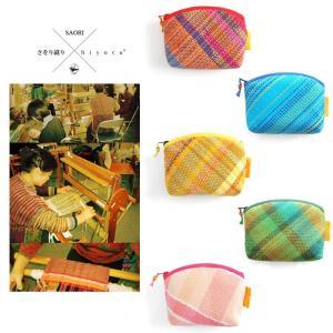 <メール便対応>Hiyuca(ヒユカ)×こころ・さをり さをり織り ポーチ Sサイズ 小物入れ 雑貨 メンズ レディース 復興デパートメント[M便 1/2]|stay