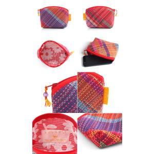 <メール便対応>Hiyuca(ヒユカ)×こころ・さをり さをり織り ポーチ Sサイズ 小物入れ 雑貨 メンズ レディース 復興デパートメント[M便 1/2]|stay|02