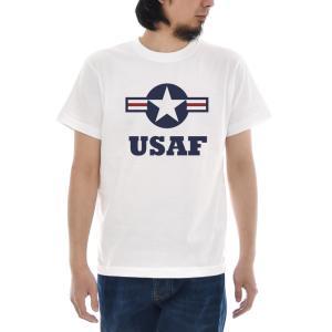 エアフォース Tシャツ ジャスト USAF マーク ラウンデル 半袖Tシャツ メンズ レディース アメリカ 空軍 大きいサイズ ホワイト 白 S M L XL XXL XXXL ブランド|stay