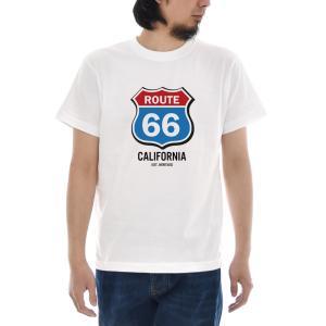 ルート66 Tシャツ カラー ジャスト 半袖Tシャツ メンズ レディース カリフォルニア アメカジ 大きいサイズ ホワイト 白 S M L XL XXL XXXL 3L 4L ブランド|stay