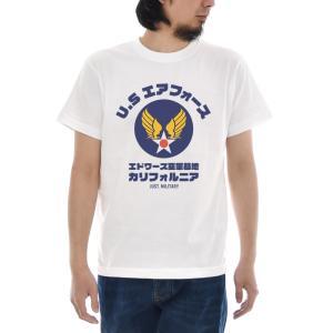 U.S エアフォース Tシャツ ジャスト 半袖Tシャツ メンズ おしゃれ 大きいサイズ カリフォルニア 空軍 ミリタリー 白 S M L XL XXL XXXL 3L 4L ブランド|stay