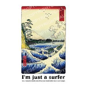 浮世絵 Tシャツ ジャスト I'm Just a Surfer 半袖Tシャツ メンズ レディース 大きいサイズ 歌川広重 駿河薩タ之海上 海 波 富士山 日本 S M L XL 3L 4L ブランド|stay|05