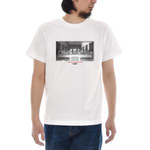 最後の晩餐 Tシャツ ジャスト モノクロ 半袖Tシャツ メンズ レディース 大きいサイズ レオナルドダヴィンチ おしゃれ 白 S M L XL XXL XXXL 3L 4L ブランド stay