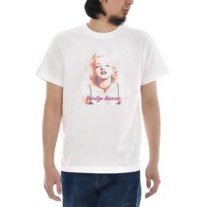 マリリンモンロー Tシャツ マリリン モンロー カラーアート ジャスト 半袖Tシャツ メンズ レディース 大きいサイズ ティーシャツ 白 S M L XL XXL XXXL ブランド|stay