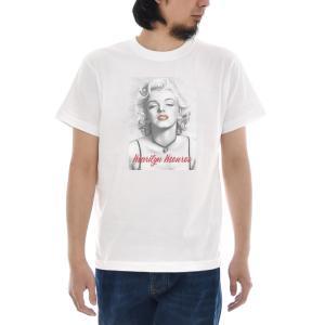 マリリンモンロー Tシャツ マリリン・モンロー モノクロアート ジャスト 半袖Tシャツ メンズ レディース 大きいサイズ ティー 白 S M L XL XXL XXXL ブランド|stay
