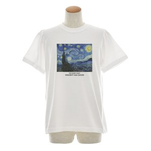 ゴッホ Tシャツ 星月夜 スターリーナイト THE STARRY NIGHT 半袖Tシャツ メンズ レディース 大きいサイズ Vincent Willem van Gogh 白 S M L XL 3L 4L JUST|stay|04