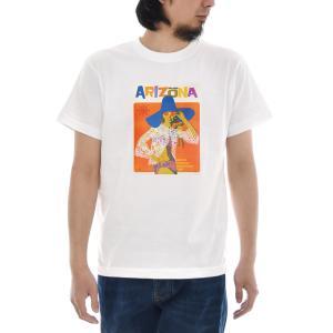 ヴィンテージ ポスター Tシャツ アメイジング アリゾナ ARIZONA 半袖Tシャツ メンズ レディース 大きいサイズ ブランド レトロ ビンテージ 白 S M L XL 3L 4L|stay