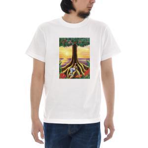ヴィンテージ ポスター Tシャツ ハワイ ハワイアン HAWAII フラガール 人魚 アロハ 半袖Tシャツ メンズ レディース 大きいサイズ ブランド S M L XL 3L 4L|stay
