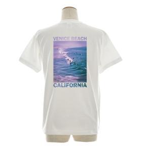 フォトTシャツ Tシャツ ヴェニス ビーチ ベニス ジャスト 半袖Tシャツ バックプリント 海 波 写真 メンズ レディース 大きいサイズ S M L XL 3L 4L ブランド|stay|05