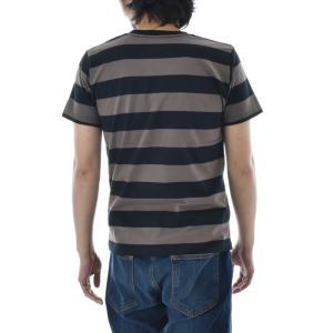 ボーダー Tシャツ ジャスト エンブロイダリー ワイドボーダー 半袖Tシャツ メンズ レディース カットソー トップス 太ボーダー 刺繍 おしゃれ S M L ブランド stay 12
