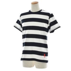 ボーダー Tシャツ ジャスト エンブロイダリー ワイドボーダー 半袖Tシャツ メンズ レディース カットソー トップス 太ボーダー 刺繍 おしゃれ S M L ブランド stay 15