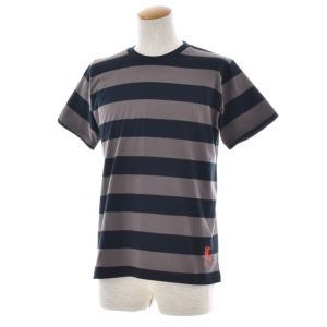 ボーダー Tシャツ ジャスト エンブロイダリー ワイドボーダー 半袖Tシャツ メンズ レディース カットソー トップス 太ボーダー 刺繍 おしゃれ S M L ブランド stay 19