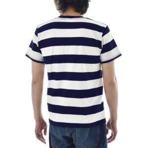 ボーダー Tシャツ ジャスト エンブロイダリー ワイドボーダー 半袖Tシャツ メンズ レディース カットソー トップス 太ボーダー 刺繍 おしゃれ S M L ブランド stay 06