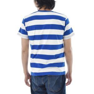 ボーダー Tシャツ ジャスト エンブロイダリー ワイドボーダー 半袖Tシャツ メンズ レディース カットソー トップス 太ボーダー 刺繍 おしゃれ S M L ブランド stay 08
