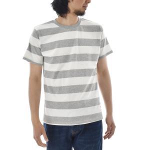 ボーダー Tシャツ ジャスト エンブロイダリー ワイドボーダー 半袖Tシャツ メンズ レディース カットソー トップス 太ボーダー 刺繍 おしゃれ S M L ブランド stay 09