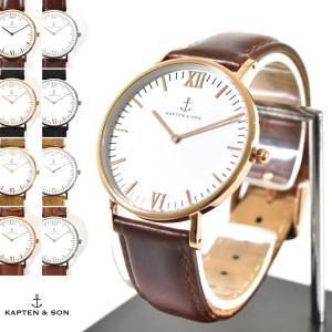 KAPTEN&SON キャプテン&サン 腕時計 40mm キャンパス Campus レザーベルト レディース ホワイト スエード クロコ|stay