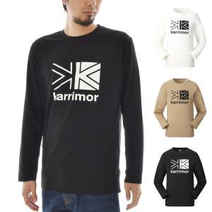 カリマー karrimor Tシャツ 長袖Tシャツ ビッグ ロゴ L/S TEE ロンT 長T ロングスリーブ メンズ アウトドア 黒  白 ベージュ big logo L/S T 101124 stay