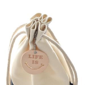 ライフ イズ アート Life is ART Life is Smile ウォータープルーフキャンバスポーチ 2トーン 巾着 バッグ アクセサリーケース メンズ レディース[M便 1/1]|stay|14