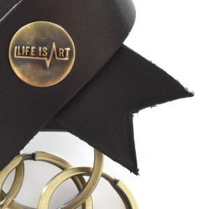 ライフ イズ アート Life is ART キーホルダー レザー リボン キーリング 車 革 メンズ レディース おしゃれ 鍵 ブラック ブラウン ナチュラル レッド 黒 茶 赤|stay|12