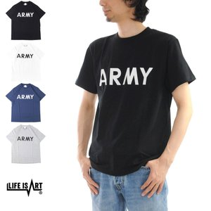 U.S ARMY T-Shirt Life is ART STANDARD PROJECT スタンダード プロジェクト Tシャツ アーミー 陸軍 半袖 プリント ミリタリー アメカジ[M便 1/1] メンズ|stay