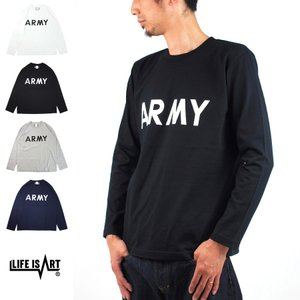 U.S AIR FORCE LONG SLEEVE Life is ART スタンダード プロジェクト Tシャツ アーミー アメリカ陸軍 長袖 ミリタリー アメカジ[M便 1/1] メンズ|stay