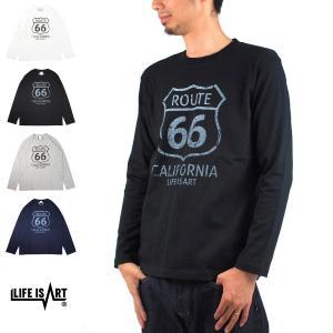 ARD PROJECT スタンダード プロジェクト Tシャツ ルート66 国道66号線 カリフォルニア マザーロード アメカジ 定番 長袖 ロンT[M便 1/1] メンズ|stay