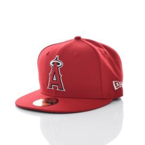 ニューエラ new era キャップ 帽子 59FIFTY MLB オンフィールド ロサンゼルス・エンゼルス エンジェルス ベースボールキャップ メジャーリーグ 赤 11596262|stay