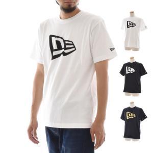 ニューエラ new era Tシャツ メンズ おしゃれ アメカジ ブランド ロゴT 半袖 ベーシック フラッグ ティーシャツ 白 黒 TEE 11403722 11403724 11403725|stay