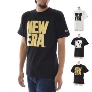 ニューエラ new era Tシャツ メンズ おしゃれ アメカジ ブランド ロゴT 半袖 ビッグニューエラ ティーシャツ 白 黒 TEE 11403751 11403750 11403744|stay