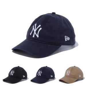 ニューエラ new era NEWERA キャップ 帽子 9THIRTY 930 クロスストラップ ウォッシュドコットン ヤンキース 6パネル メンズ レディース ブランド ベージュ 紺 黒|stay