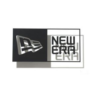 ニューエラ new era NEWERA ロゴ ステッカー ダイカット ボックスロゴ デカール シール  アウトドア 屋外対応 黒 白 Die-cut Box Logo 11099458 11099457|stay