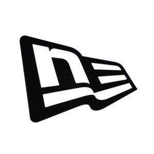 ニューエラ new era NEWERA ロゴ ステッカー ダイカット フラッグロゴ デカール シール  アウトドア 屋外対応 黒 白 Die-cut Flag Logo 11099456 11099449|stay