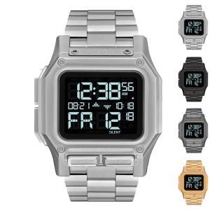 ニクソン NIXON 腕時計 レグルス ステンレス スチール Regulus Stainless Steel 時計 防水 デジタル ミリタリーウォッチ メタル メンズ 10気圧防水 A1268|stay