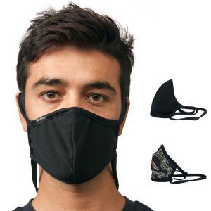 ニクソン NIXON マスク フリップサイドマスク フェイスカバー 繰り返し洗える 繰り返し使える 洗える リバーシブルマスク メンズ レディース ブラック 黒 C3124|stay