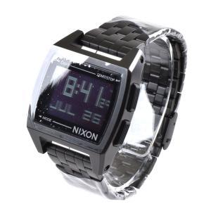 ニクソン NIXON 腕時計 デジタル メンズ ベース オールブラック THE BASE NA1107001-00 サーフィン ウォッチ 防水 ステレンススチール SS|stay