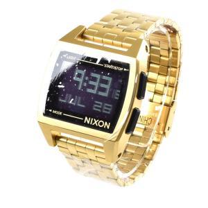 ニクソン NIXON 腕時計 デジタル メンズ ベース オールゴールド THE BASE NA1107502-00 サーフィン ウォッチ 防水 ステレンススチール SS|stay