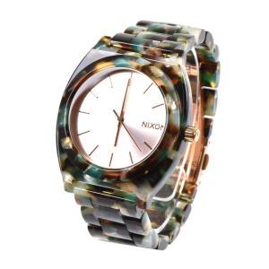 ニクソン NIXON 腕時計 メンズ レディース タイムテラー アセテート ローズゴールド マルチ 限定 ベッコウ ブランド THE TIME TELLER ACETATE NA3272943-00|stay