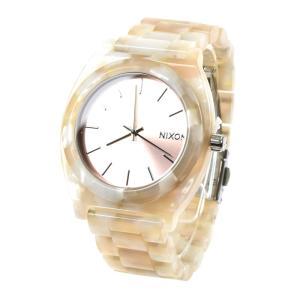 ニクソン NIXON 腕時計 メンズ レディース タイムテラー アセテート ローズゴールド シーシェル 限定 防水 ブランド THE TIME TELLER ACETATE NA3272944-00|stay