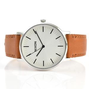 ニクソン NIXON 腕時計 ポーター レザー PORTER LEATHER ホワイト サンレイ×サドル NA10582442-00 メンズ|stay|02