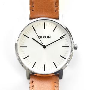 ニクソン NIXON 腕時計 ポーター レザー PORTER LEATHER ホワイト サンレイ×サドル NA10582442-00 メンズ|stay|04
