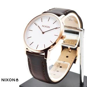 ニクソン NIXON 腕時計 THE PORTER LEATHER ポーター レザー ローズゴールド×ブラウン NA10582524-00 メンズ レディース ウォッチ【取寄せ商品】|stay